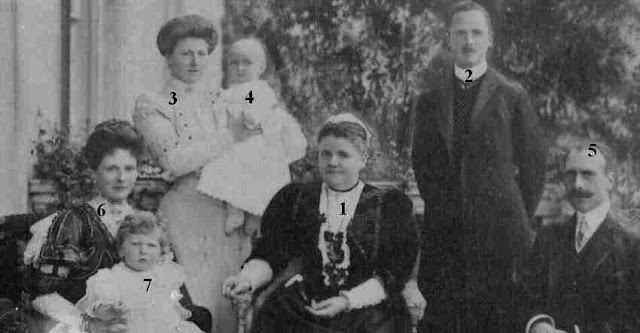 The Duchesse of Albany and her family