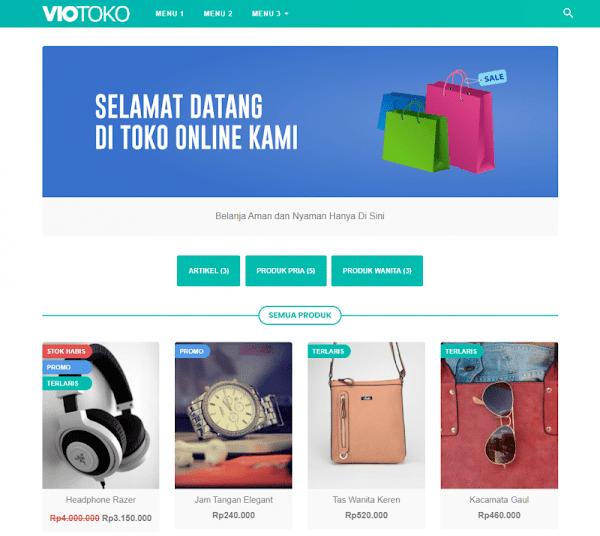 VioToko Template Toko Online Blogspot