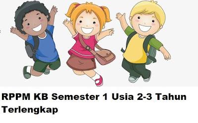 RPPM KB Semester 1 Usia 2-3 Tahun