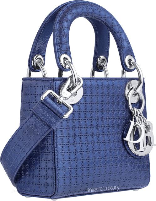 ♦Dior blue preforated Lady Dior bag #dior #bags #ladydior #brilliantluxury