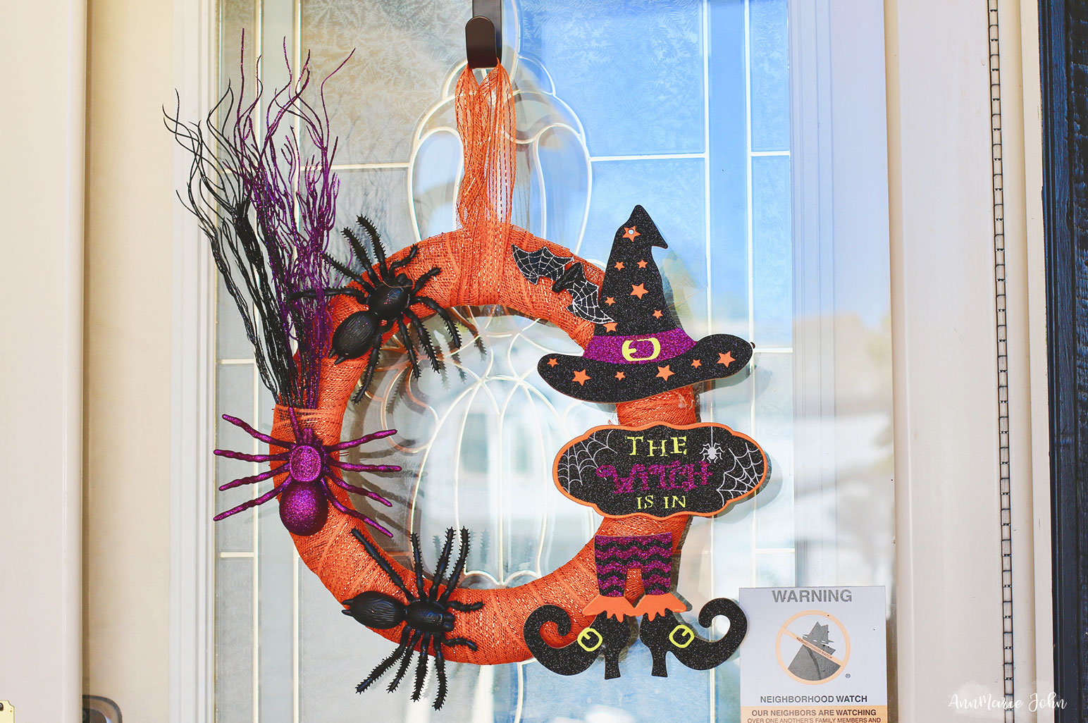 DIY Dollar Store Halloween Witch Wreath