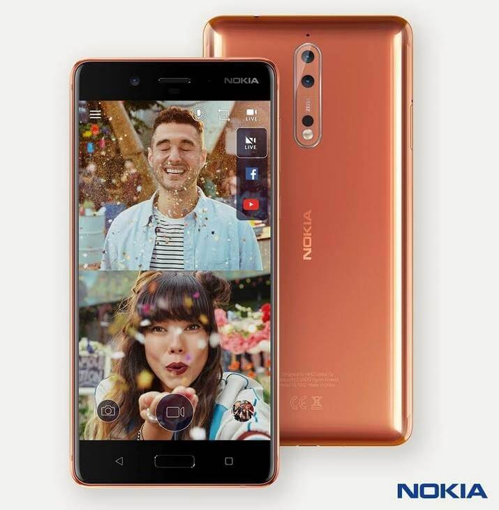 Nokia 8 Now Official; Boasts QHD Display, Snapdragon 835 Processor, Dual Rear Cameras