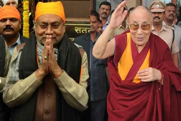 दलाई लामा पटना पहुंचे, नीतीश ने किया स्वागत