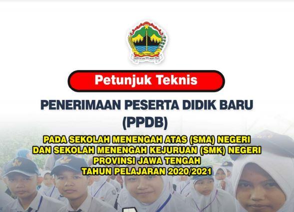 Download Juknis PPDB SMA-SMK Negeri Jawa Tengah Tahun 2020/2021
