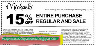 Free Printable Michaels Coupons
