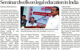 Seminar dwells on legal education in India