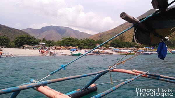 Outrigger boats along the shore of Pundaquit
