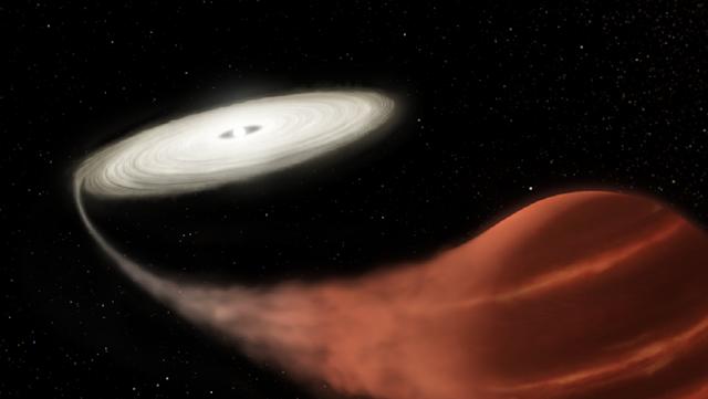 """La NASA capta un binario estelar """"vampiro"""" en explosión"""