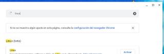 Configuración Chrome OS - buscar linux