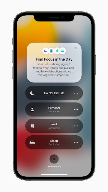 Find Focus iOS 15