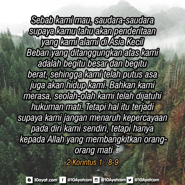 2 Korintus 1 : 8-9