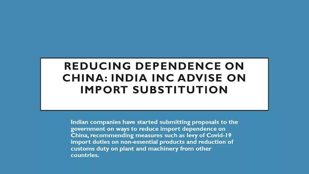 Reducing dependence on China:India Inc advise on import