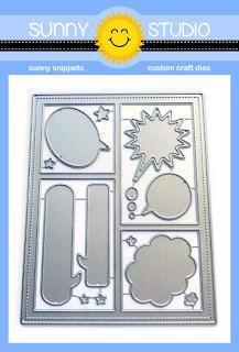 Sunny Studio Stamps: Comic Strip Speech Bubbles Low Profile Metal Cutting Dies