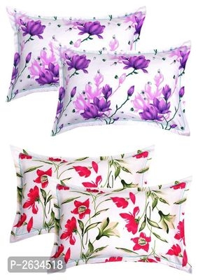 Cotton 4 Piece Cotton Pillow Cover