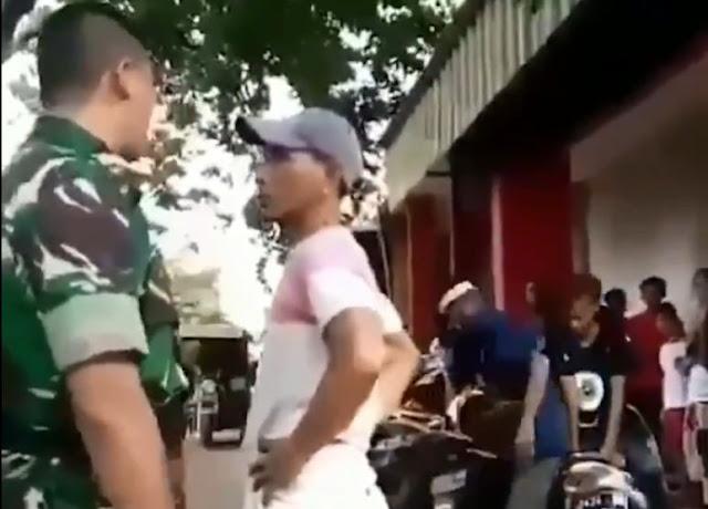 Viral, Adu Mulut Tukang Parkir dan Anggota TNI di Cirebon