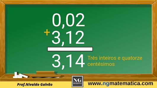 adição de números decimais