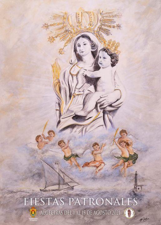 Cartel de las Fiestas Patronales de la Patrona de Algeciras 2021