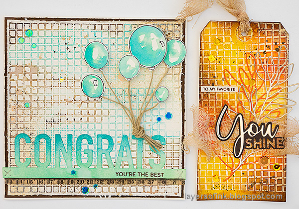 Layers of ink - Simon Says Stamp Born To Sparkle Blog Hop by Anna-Karin Evaldsson.
