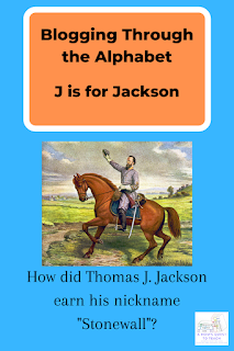 Drawing of Jackson on his horse from WPClipart.com