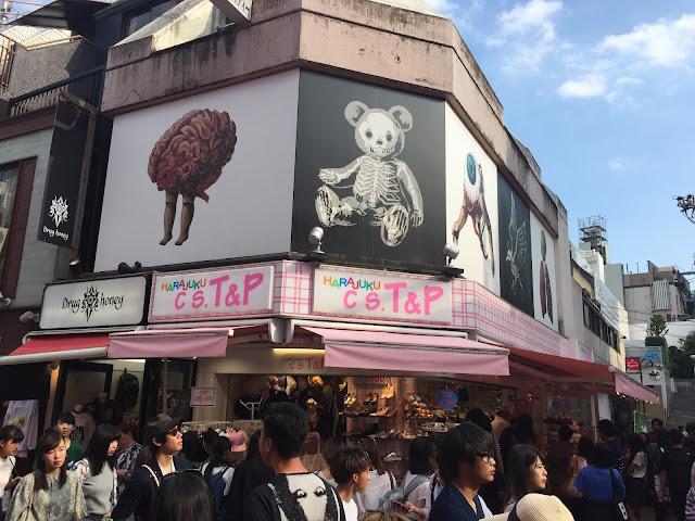 Waling along Takeshita Street