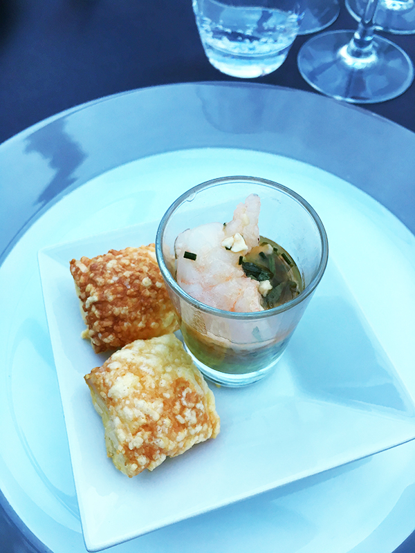 Amuse bouche from gourmet dinner cruise