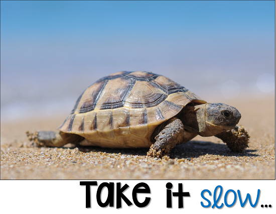 tip 1 is to take it slow and let students ease their way slowing back into the first day of school.  Don't rush them, give them time to settle in at their own pace.