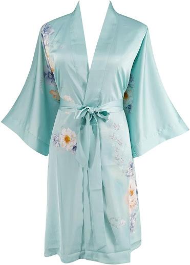 Luxury Satin and Silk Kimono Robes For Women