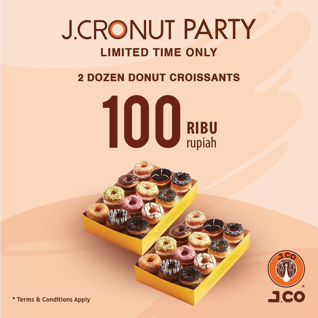 #JCO - Promo 100 K 2 Dozen Donut Croissants di J.CRONUT PARTY (HARI INI)