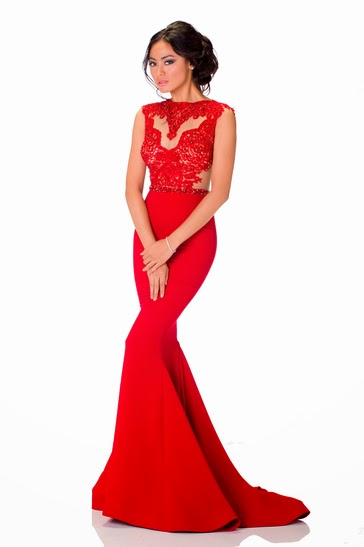 fitted red evening gowns - photo #37