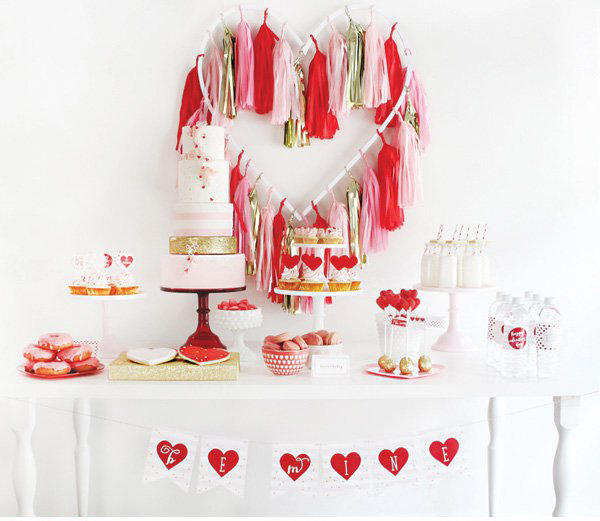 easy way to set a table for valentines celebration