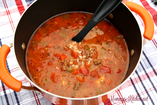 Hearty Stuffed Pepper Soup