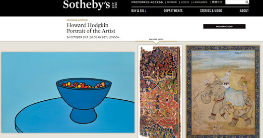 Howard Hodgkin Portrait of the Artist - at Sotheby's