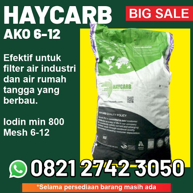 jual karbon aktif Haycarb ako 6-12