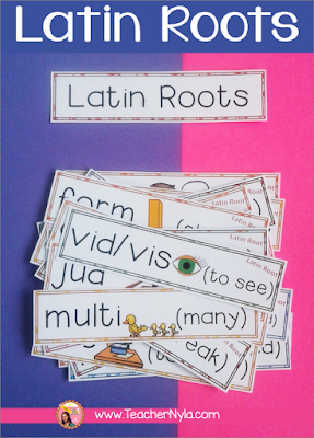 Use Latin Roots for 'word of the day' focus walls