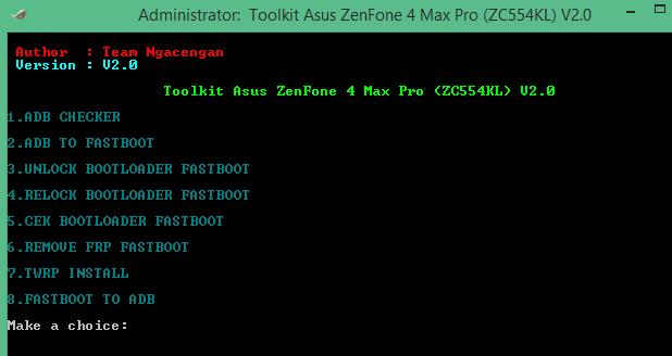 Unlock Bootloader-Frp-Twrp Asus Zenfone 4 Max Pro ZC554KL