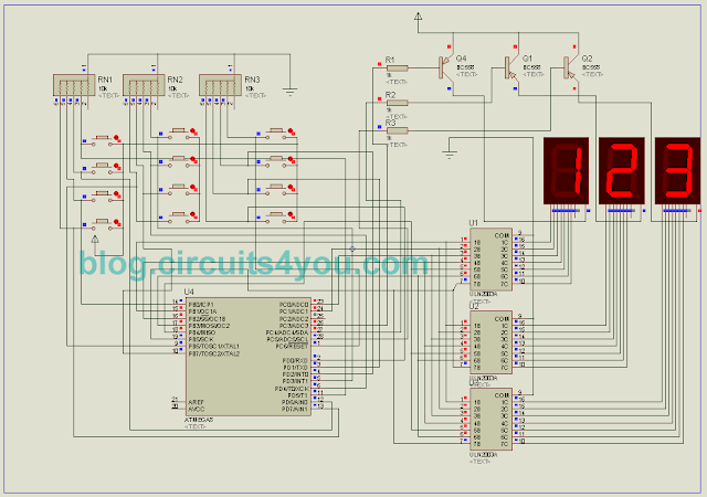 Token Number Display Circuit Diagram