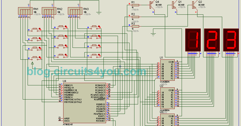 token number display system using microcontroller