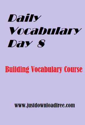 Easy tricks for Vocabulary learning day 8