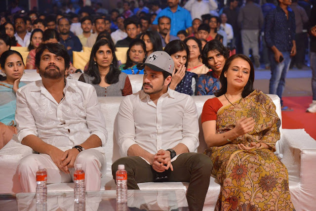 nagarjuna, akhil, amala at om namo venkatesaya audio launch