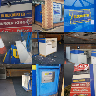 A look at what's left of Blockbuster Video on Fallowfield Retail Park