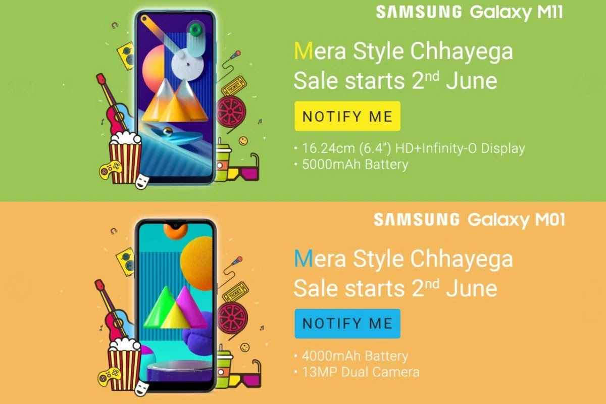 Samsung is going to launch Samsung Galaxy M11 and Galaxy M01