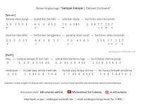 Notasi Angka Lagu Sampai Jumpa | Endank Soekamti