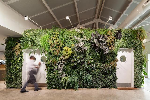 restaurant with vertical garden