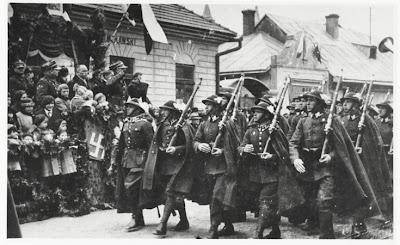 Polish mountain infantry -  Parade of Podhale Rifles circa 1936