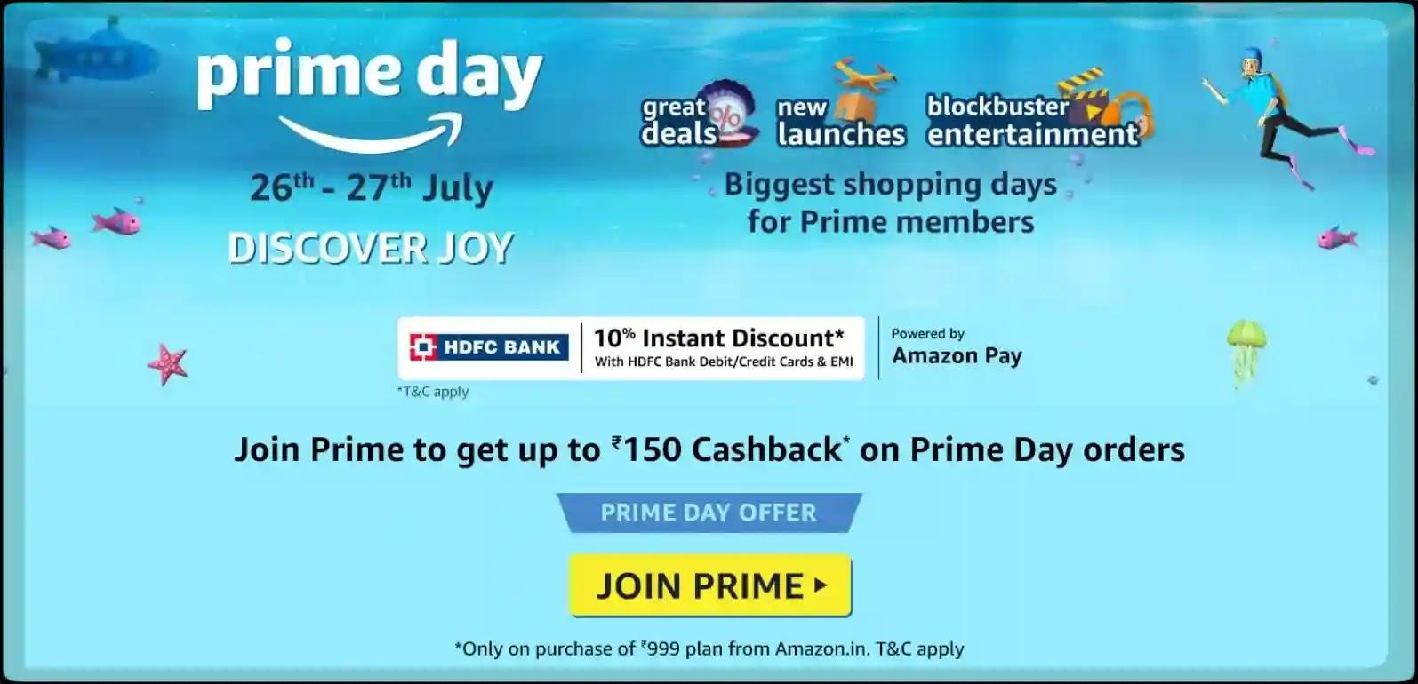 Amazon Prime Day 2021 - Free Amazon Prime Membership