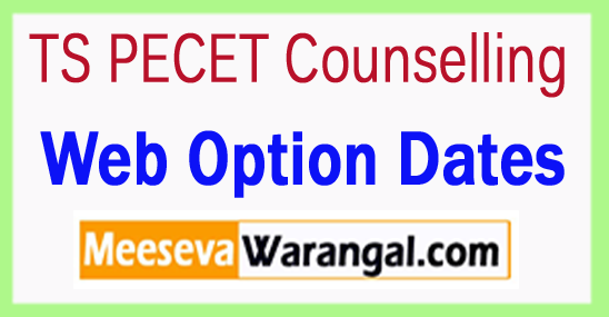 TS PECET Counselling Web Option Dates 2018