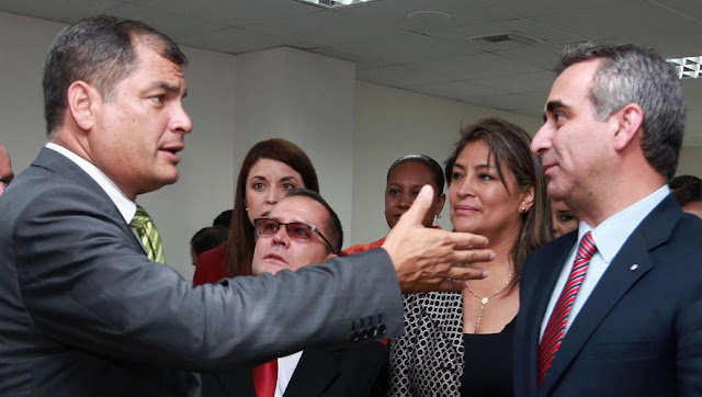 Rafael Correa y Gustavo Jalkh
