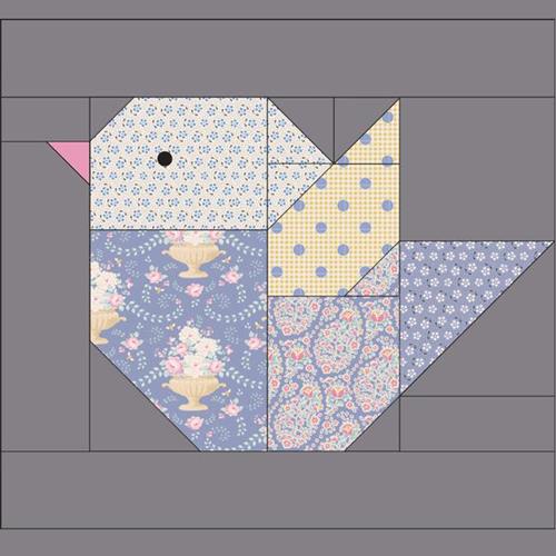 The Bird Quilt Block - Free Pattern