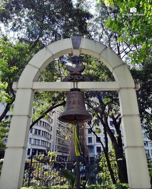 Close-up do Marco da Paz - Pateo do Collegio - São Paulo