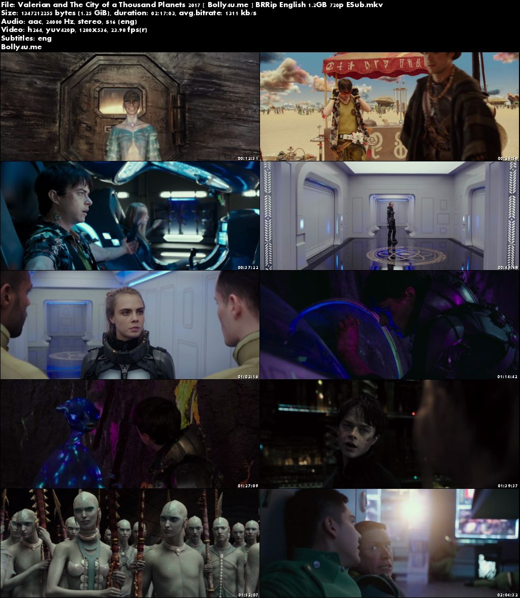 Valerian and The City of a Thousand Planets 2017 BRRip 400MB English 480p ESub Download